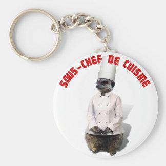 SOUS - CHEF DE CUISINE BASIC ROUND BUTTON KEY RING