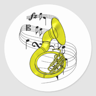 Sousaphone Classic Round Sticker