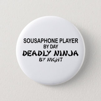 Sousaphone Deadly Ninja by Night 6 Cm Round Badge