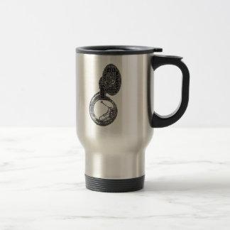 Sousaphone Shaped Word Art Black Text Travel Mug