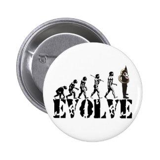 Sousaphone Tuba Tubas Evolution Musical Art 6 Cm Round Badge