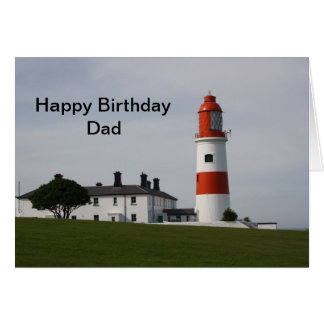Souter Lighthouse  England  Happy Birthday Dad Greeting Card