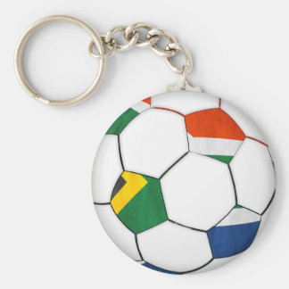 south africa 2010 world cup soccer basic round button key ring