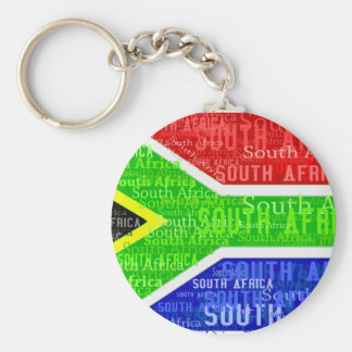 SOUTH AFRICA BASIC ROUND BUTTON KEY RING