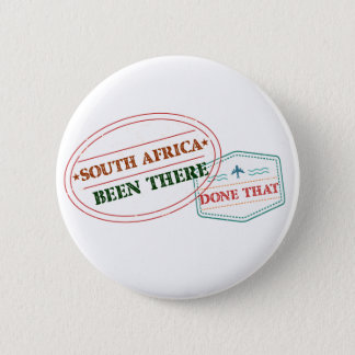 South Africa Been There Done That 6 Cm Round Badge