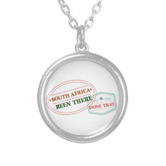 South Africa Been There Done That Silver Plated Necklace