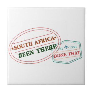 South Africa Been There Done That Small Square Tile