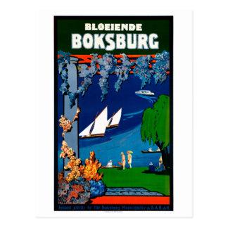 South Africa Boksburg Vintage Travel Poster Postcard