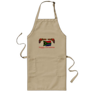 South Africa Christmas Long Apron