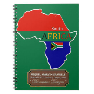 South Africa country Flag Colors Modern Notebook