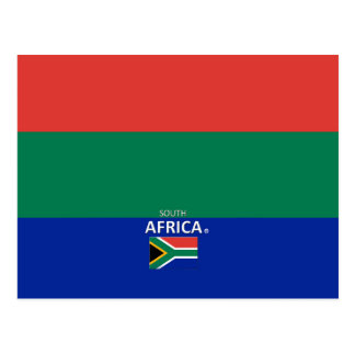 South Africa Country Flag Postcard