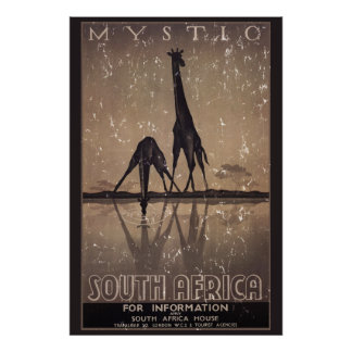 South Africa - distressed Poster