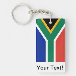 South Africa Double-Sided Rectangular Acrylic Key Ring