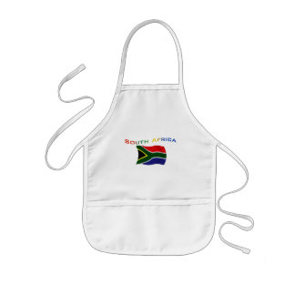 South Africa Flag 3 Kids Apron