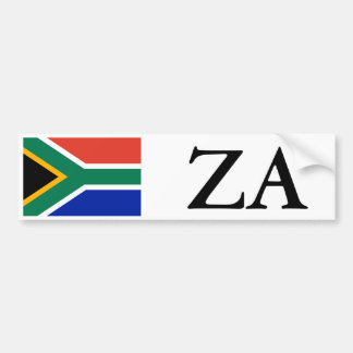 South Africa Flag and ZA Bumper Sticker