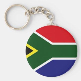 South Africa Flag Basic Round Button Key Ring