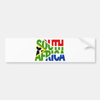 South Africa + flag Bumper Sticker