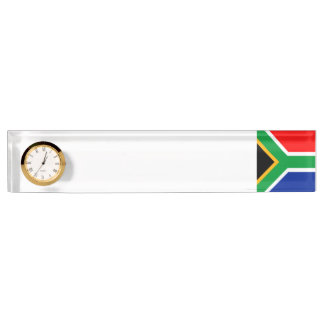 South Africa Flag Desk Nameplate