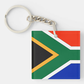 South Africa Flag Double-Sided Square Acrylic Key Ring