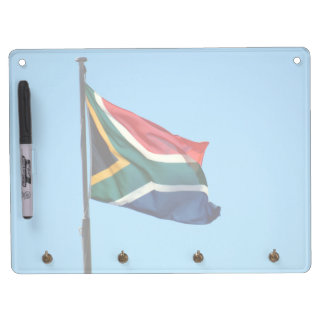 south africa flag dry erase board with key ring holder