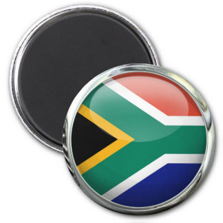 South Africa Flag Glass Ball Magnet