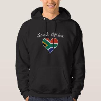 South Africa Flag Heart Hoodie