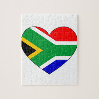 South Africa Flag Heart Jigsaw Puzzle