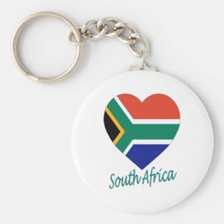 South Africa Flag Heart Key Chain