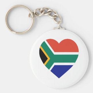 South Africa Flag Heart Keychains