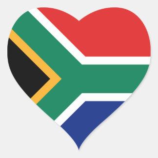 South Africa Flag Heart Sticker