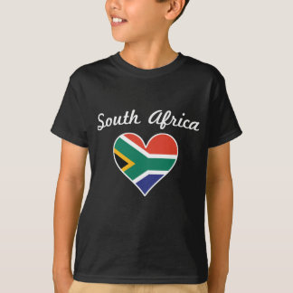 South Africa Flag Heart T-Shirt