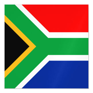 South Africa Flag Magnetic Invitations