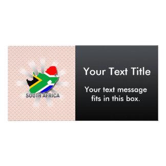 South Africa Flag Map 2.0 Customised Photo Card