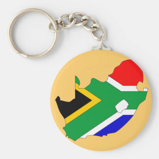 South Africa flag map Keychains
