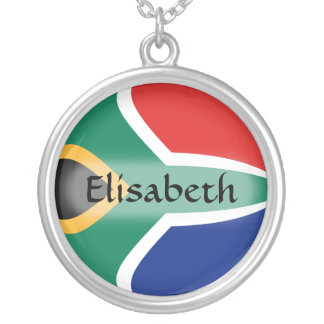 South Africa Flag + Name Necklace