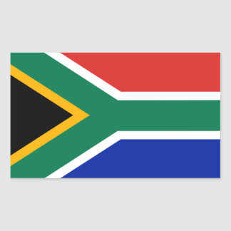 South Africa Flag Rectangular Sticker
