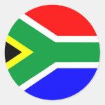 South Africa flag Round Sticker