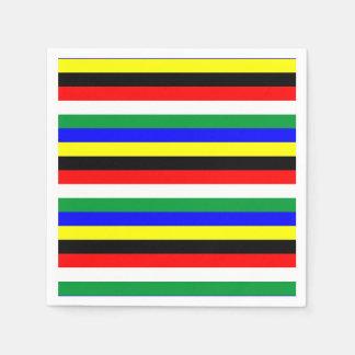 South Africa flag stripes lines symbol Disposable Serviettes