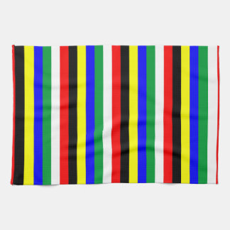 South Africa flag stripes lines symbol Tea Towel