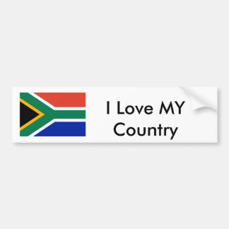 South Africa Flag The MUSEUM  I Love MY Country Car Bumper Sticker
