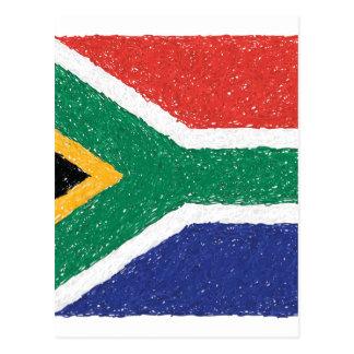 South Africa Flag Theme Postcard