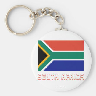 South Africa Flag with Name Keychain