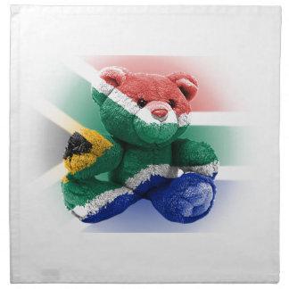 South Africa Flag wrapped Teddy Bear Cloth Napkin