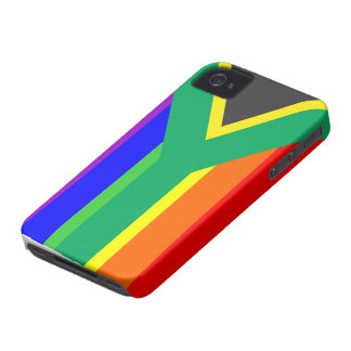 south africa gay proud rainbow flag country Case-Mate iPhone 4 cases