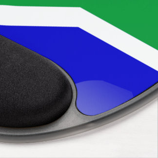 South Africa glossy flag Gel Mouse Pad