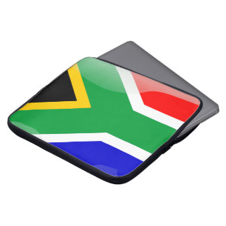 South Africa glossy flag Laptop Sleeve