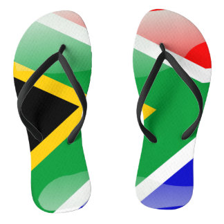 South Africa glossy flag Thongs