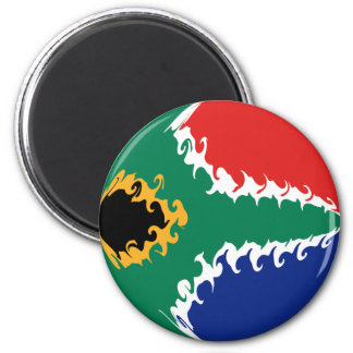 South Africa Gnarly Flag Refrigerator Magnets