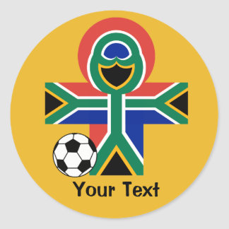 South Africa Happy Flag Football Soccer Sticker