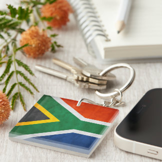 South Africa-Keychain-1 Single-Sided Square Acrylic Key Ring